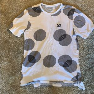 Nike men's white and black circle tee
